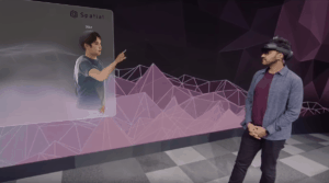 Augmented reality meeting rooms from Microsoft will be available this year.